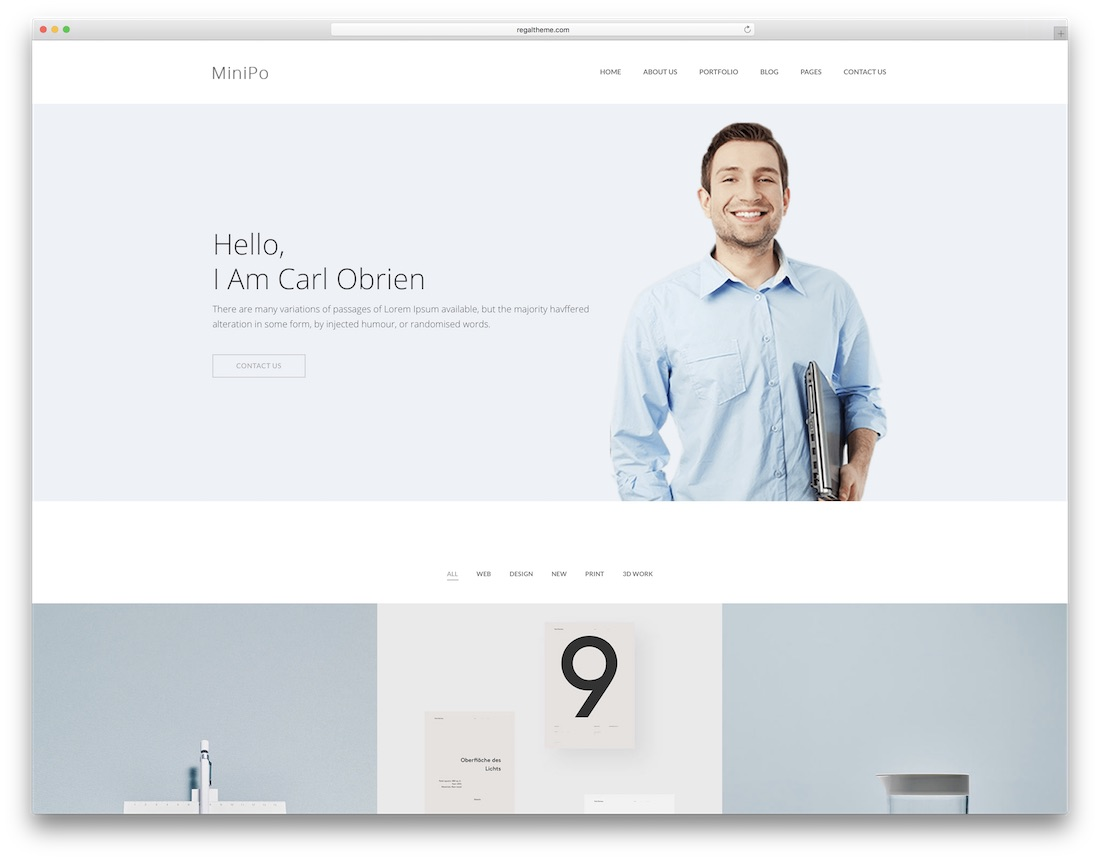 minipo designer website template