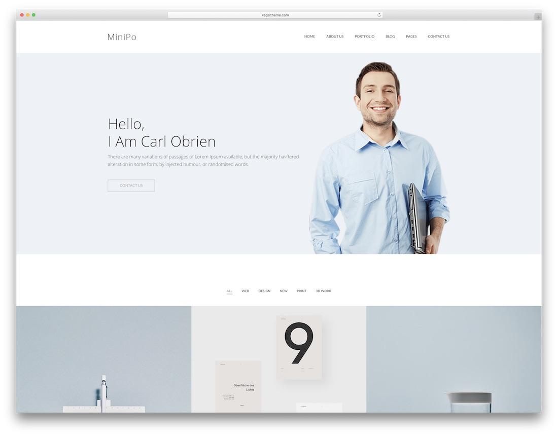 minipo graphic design website template