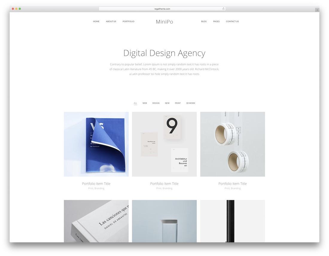 minipo marketing website template