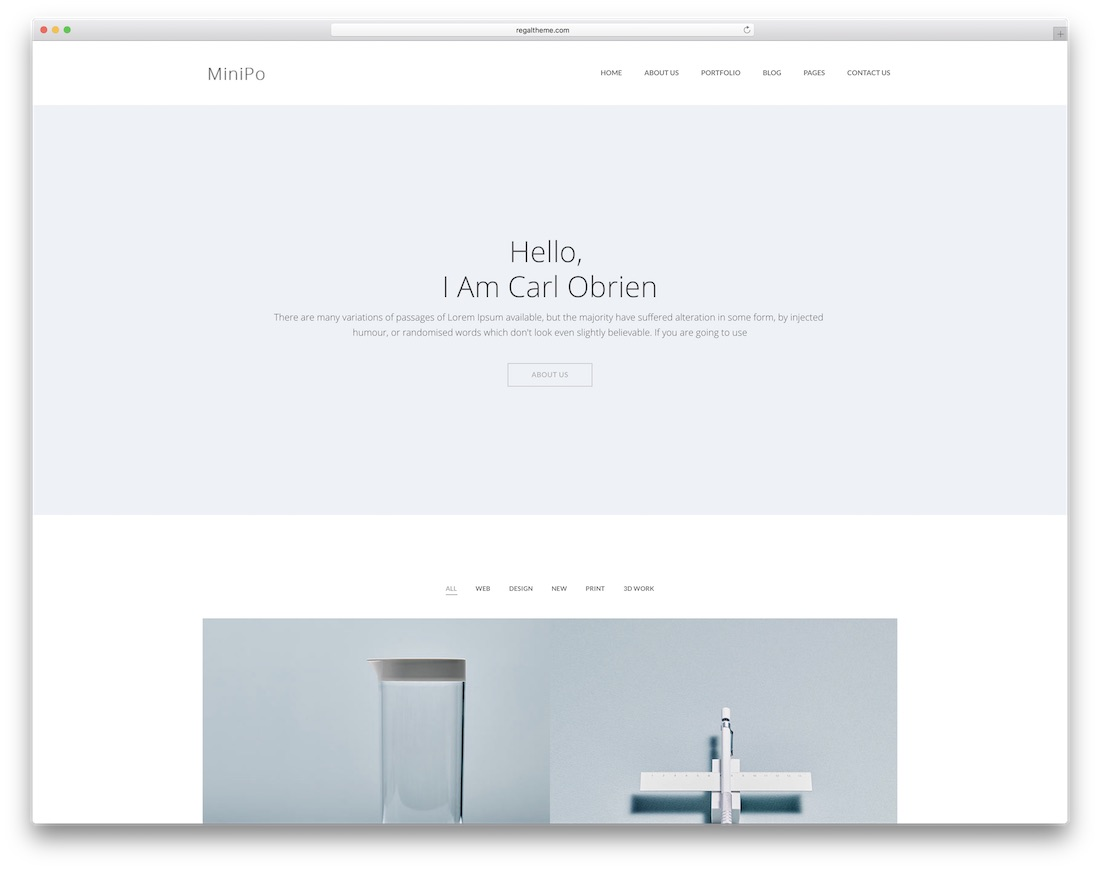 minipo simple bootstrap template