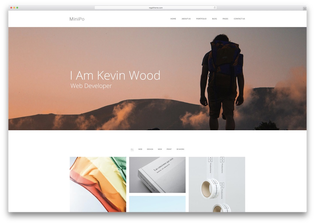 minipo photography website template