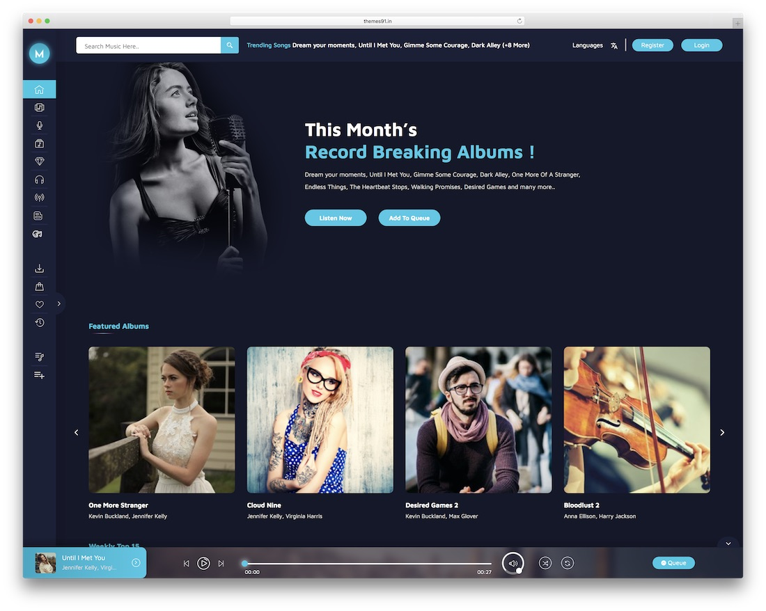 miraculous wordpress radio station theme