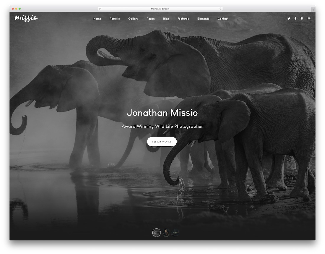 missio artist website template