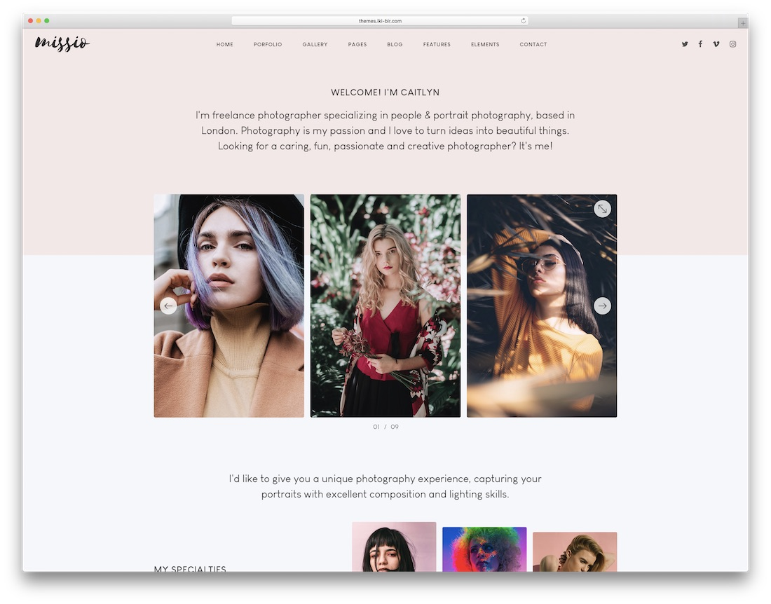 missio bootstrap website template