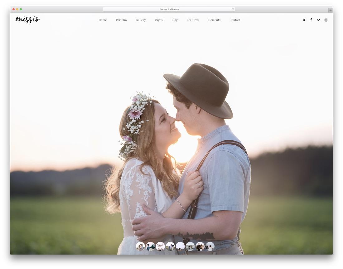missio fullscreen website template