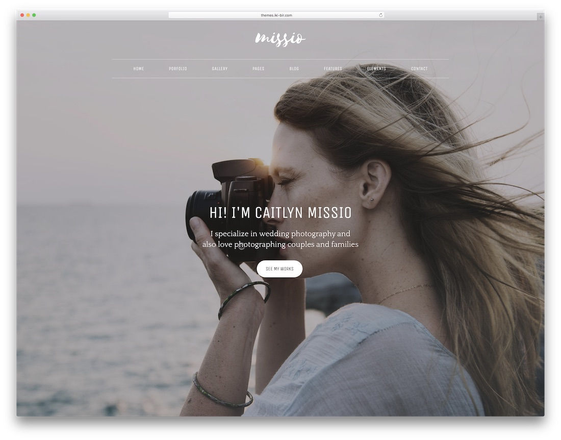 missio photography website template