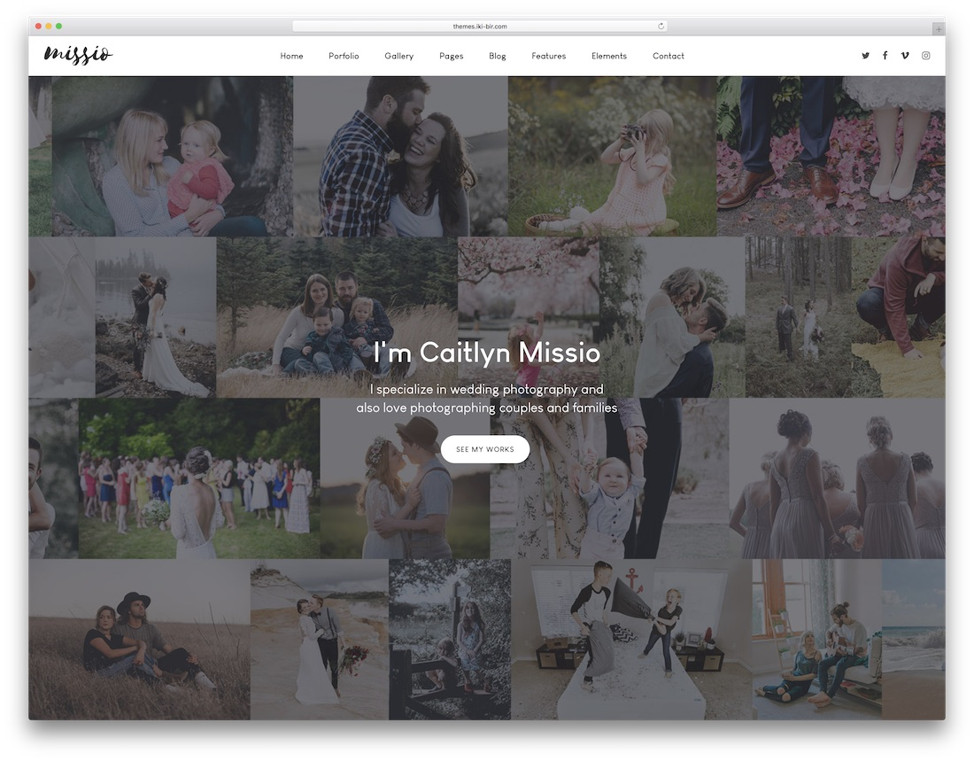 missio professional website template