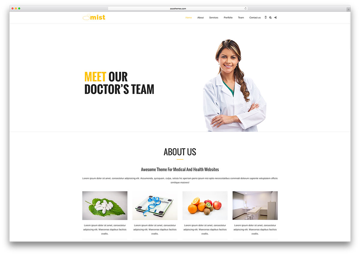 mist-one-page-medical-html5-website-template