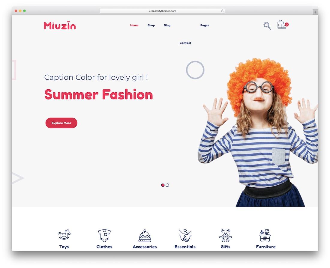 miuzin children wordpress theme