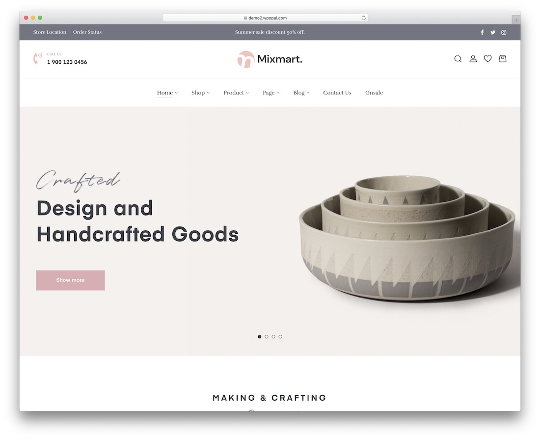 mixmart craftsman wordpress theme