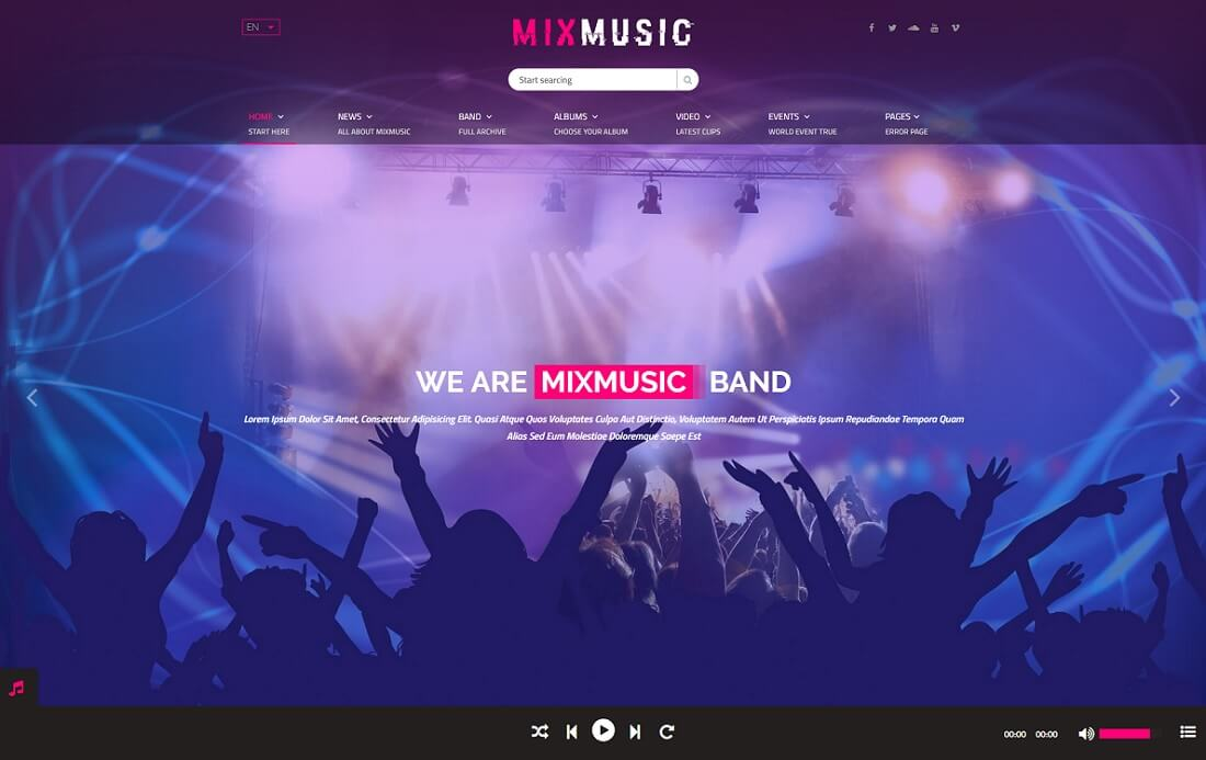 mixmusic musician website template
