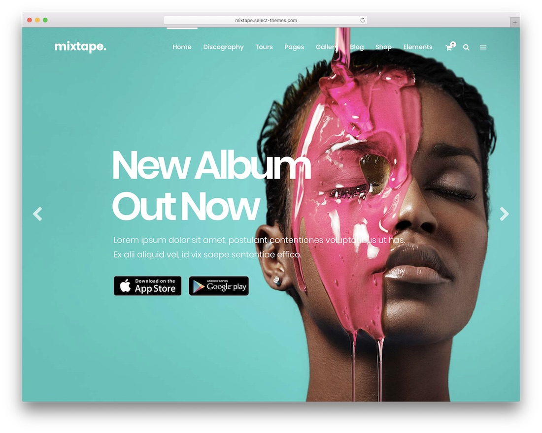 mixtape music wordpress theme