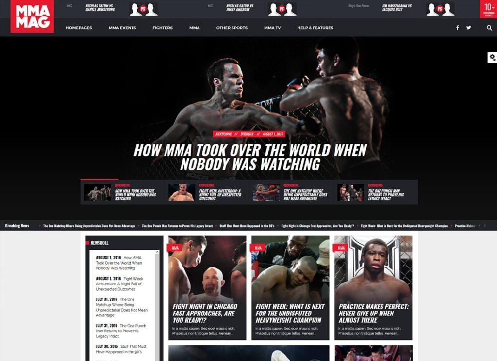 MMA-MAG   MMA Sports Magazine WordPress Theme