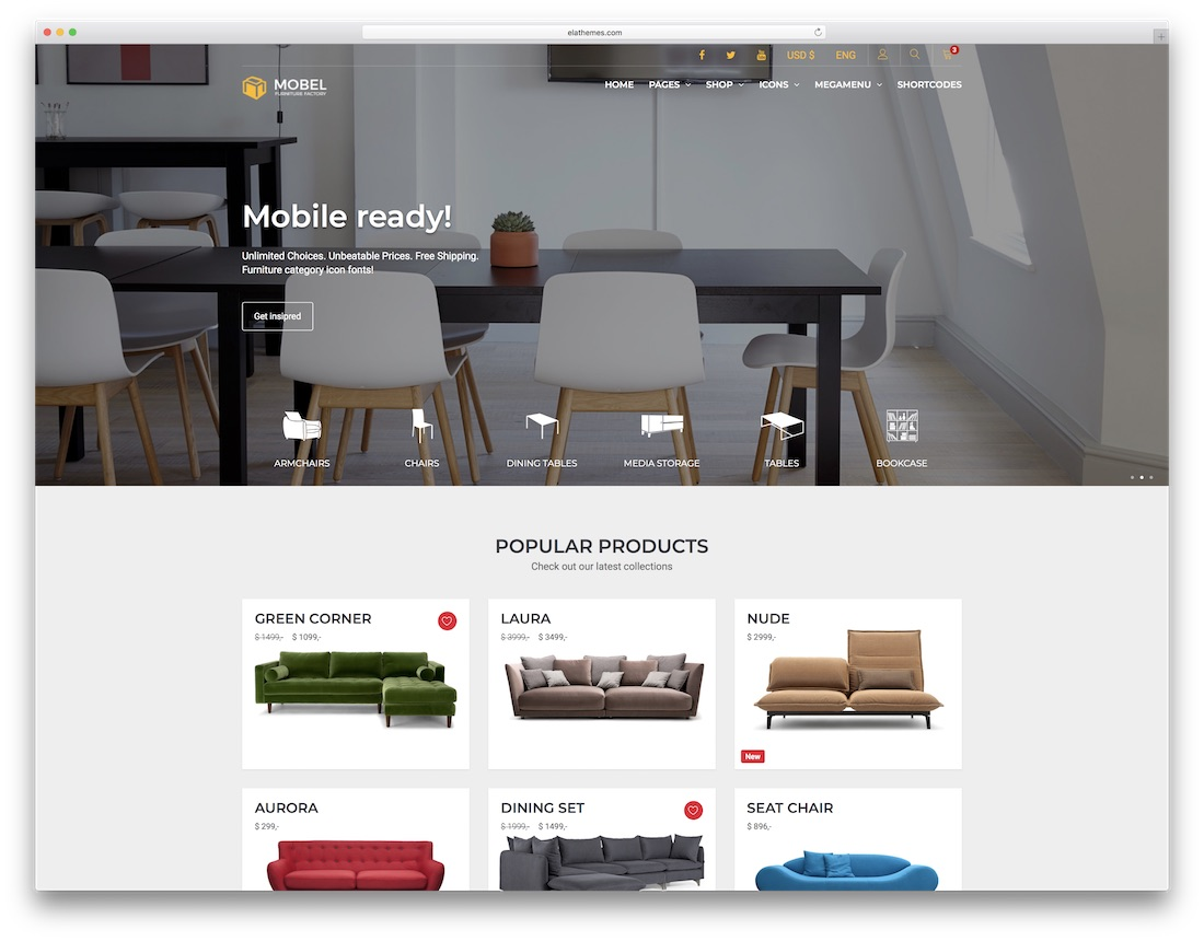 Mobel Interior Design Website Template