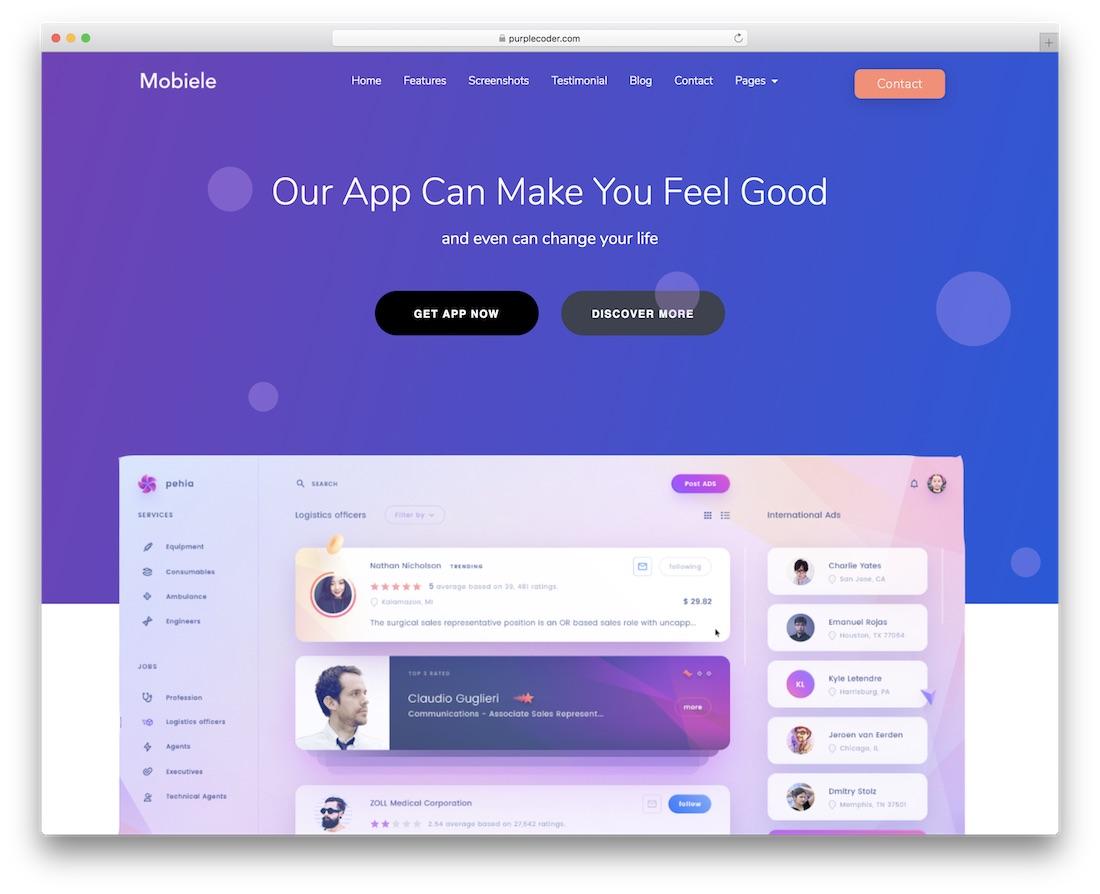 mobiele cheap website template