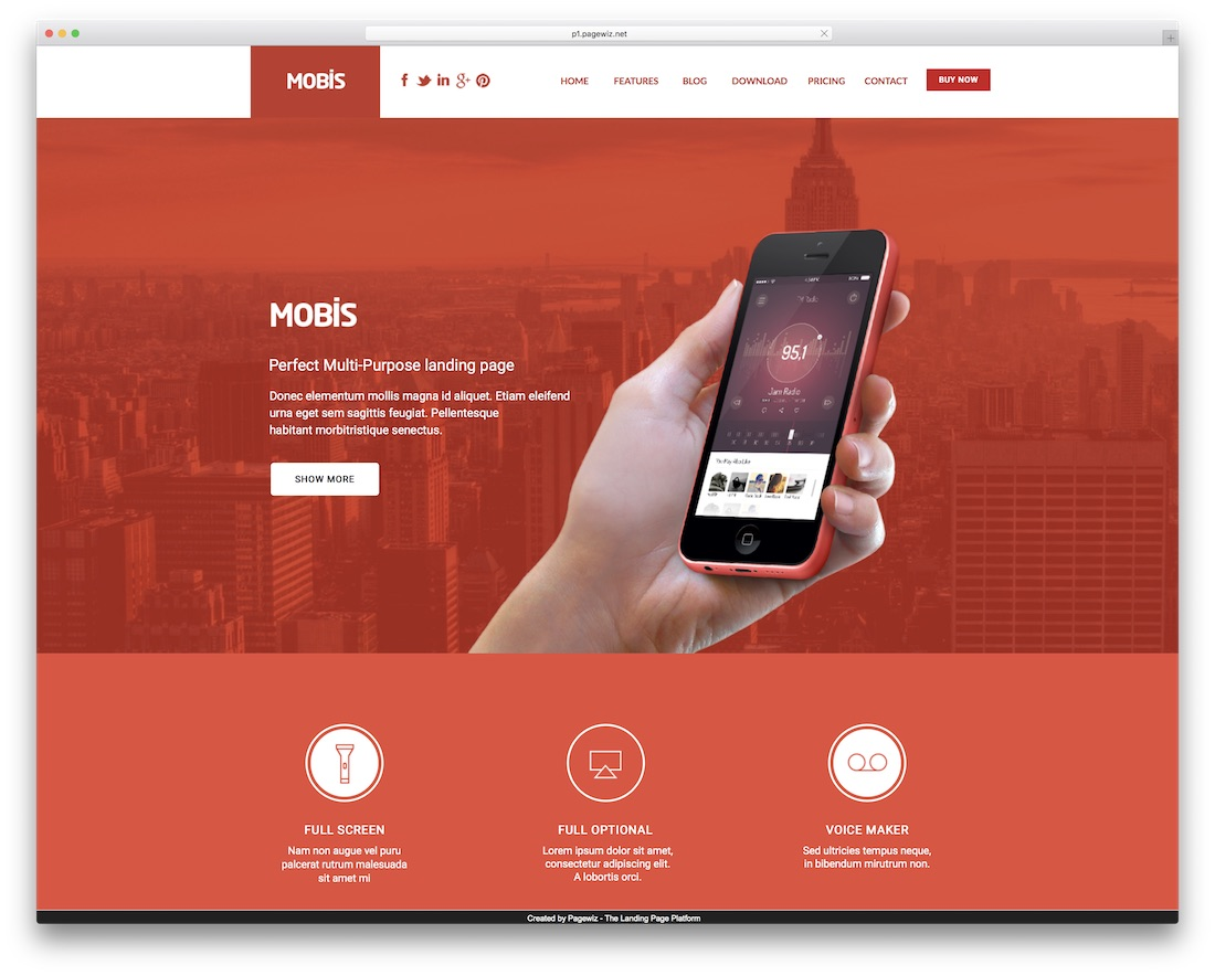 mobis pagewiz marketing template