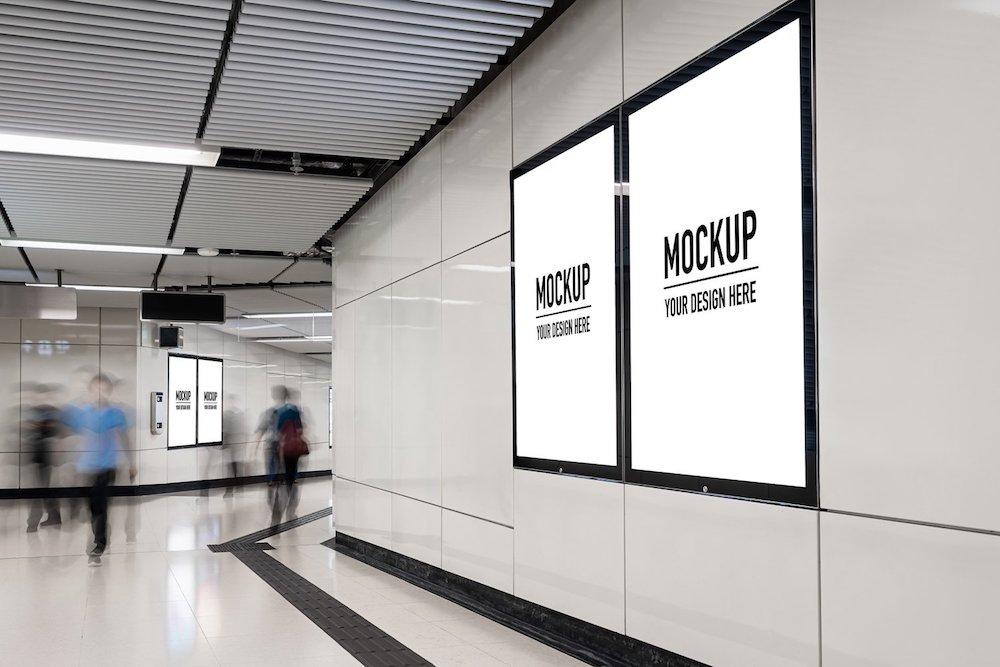 mockup concept of billboard psd
