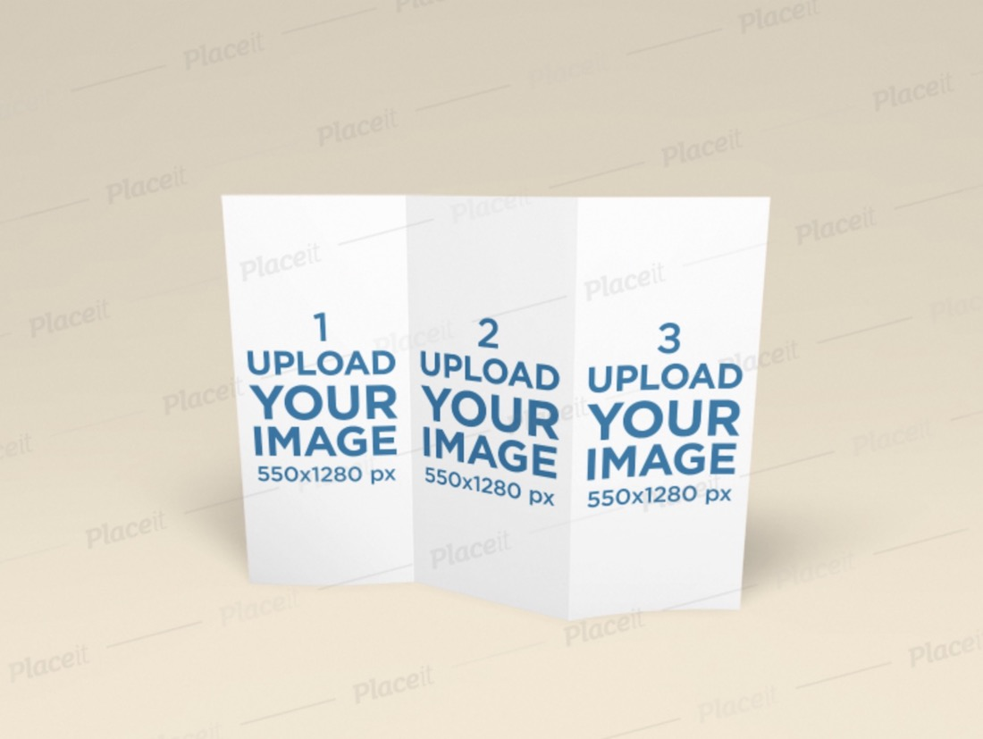 mockup featuring a trifold brochure