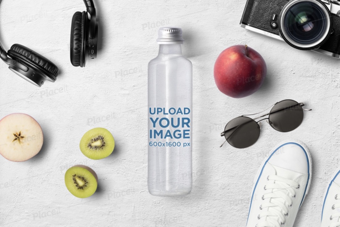 mockup featuring a water bottle