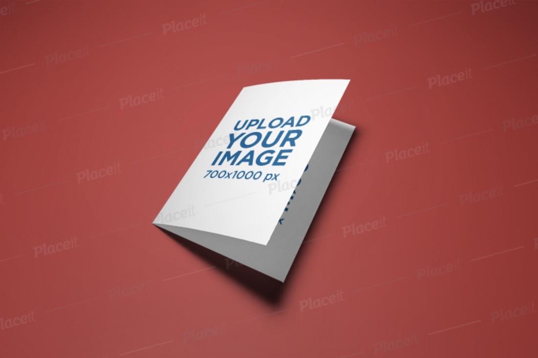 mockup of a bi-fold a5 brochure