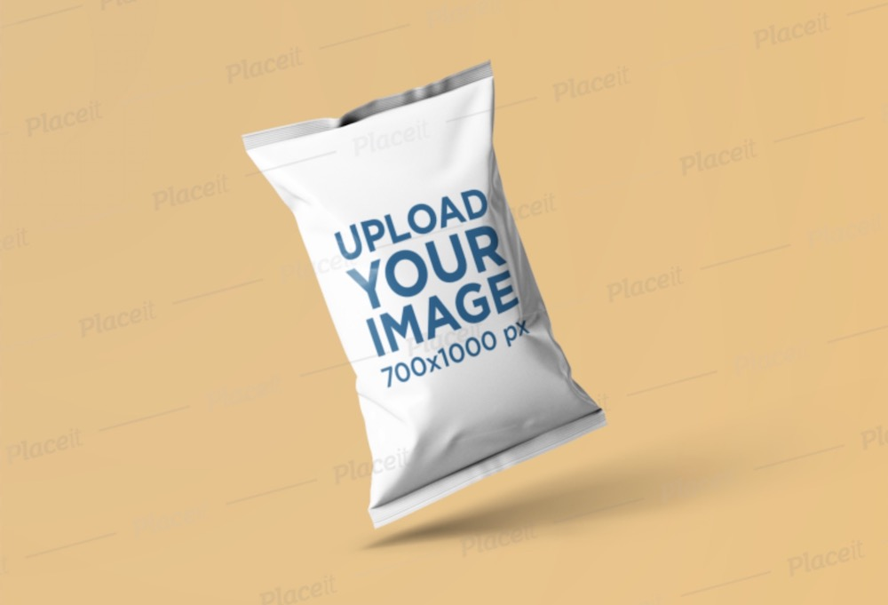 mockup of a chips bag