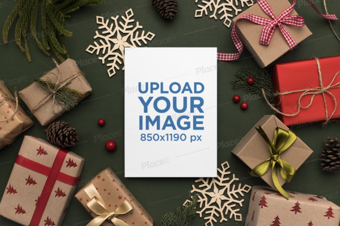 mockup of a christmas invitation