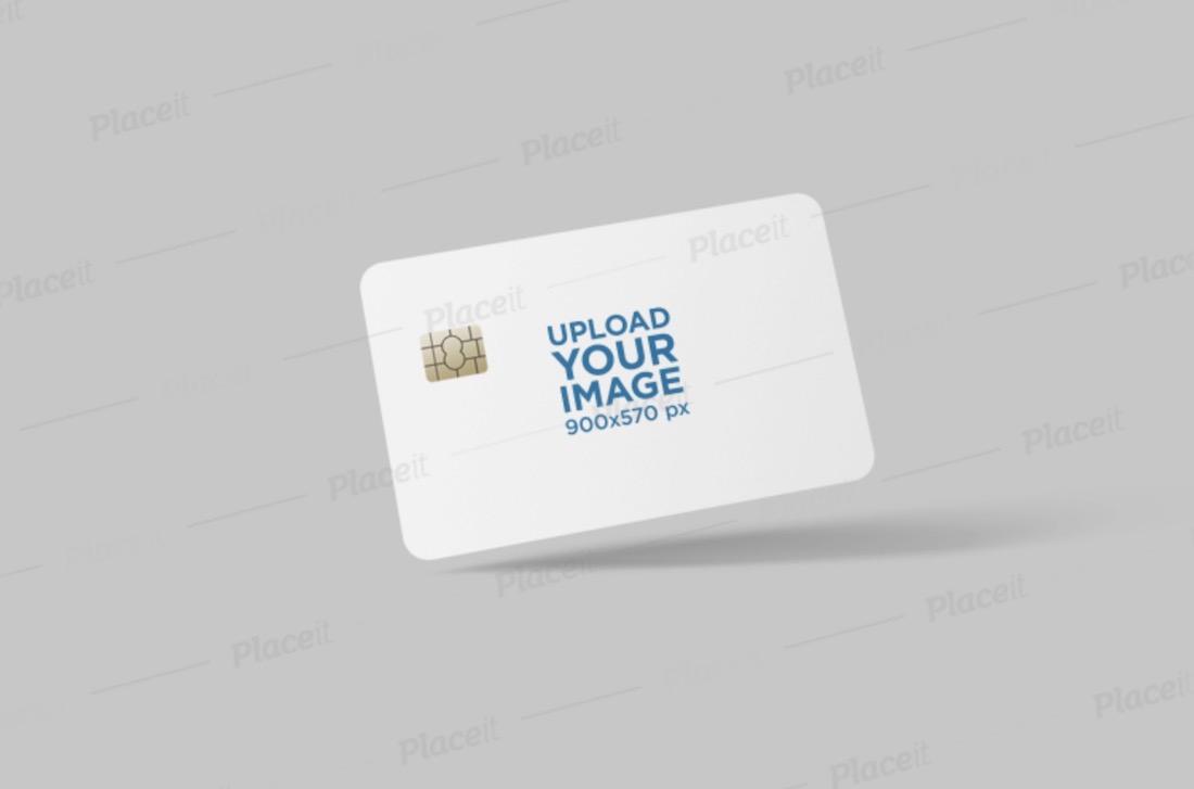mockup of a credit card