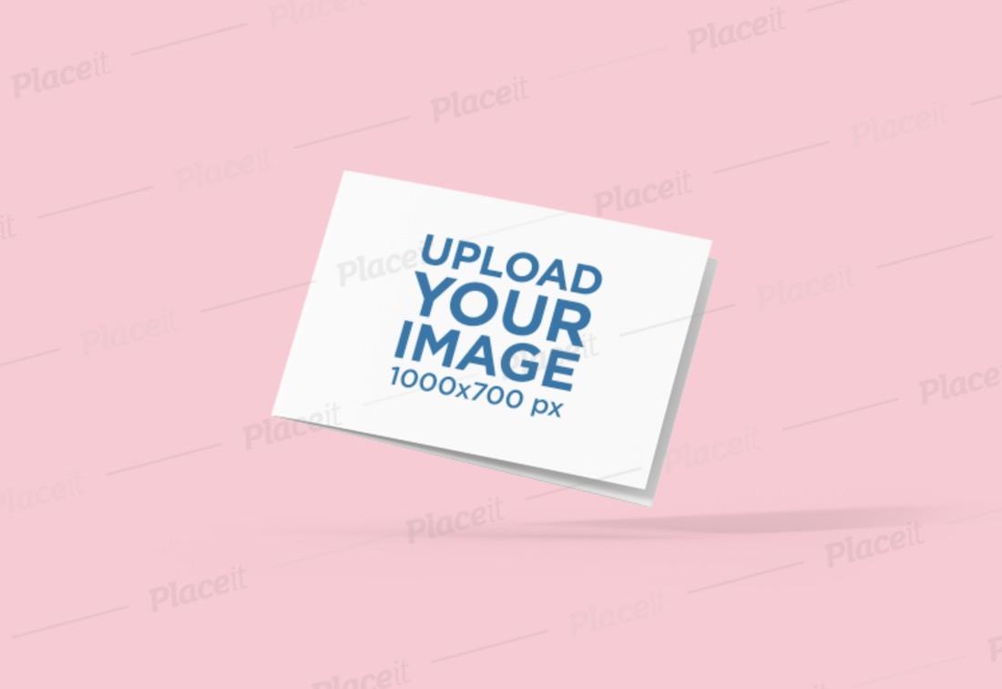 mockup of a floating brochure