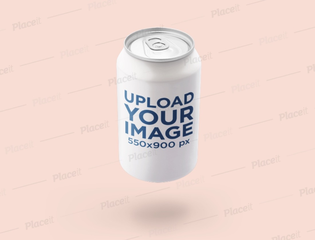 mockup of a floating soda can