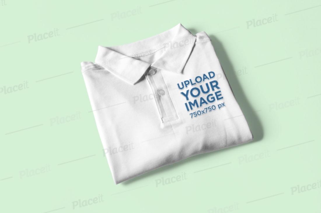 mockup of a folded polo shirt