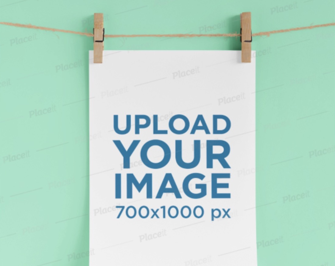 mockup of a hanging a4 letterhead