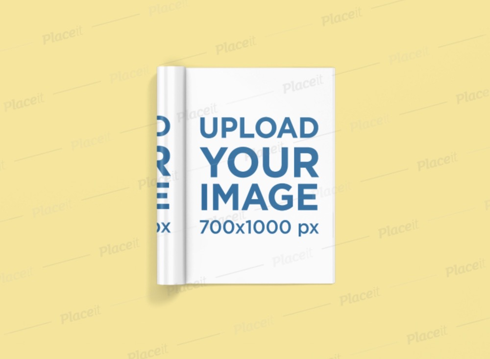 mockup of a rolled magazine with full page ad