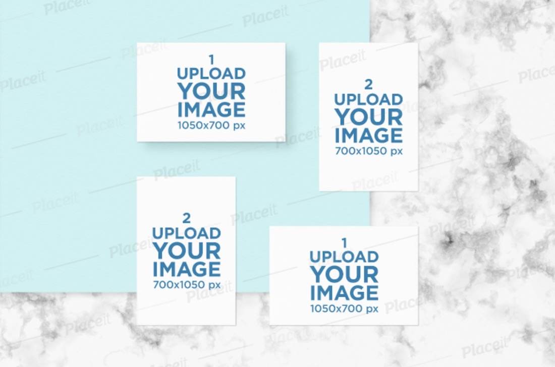 mockup of a set of different sized letterheads