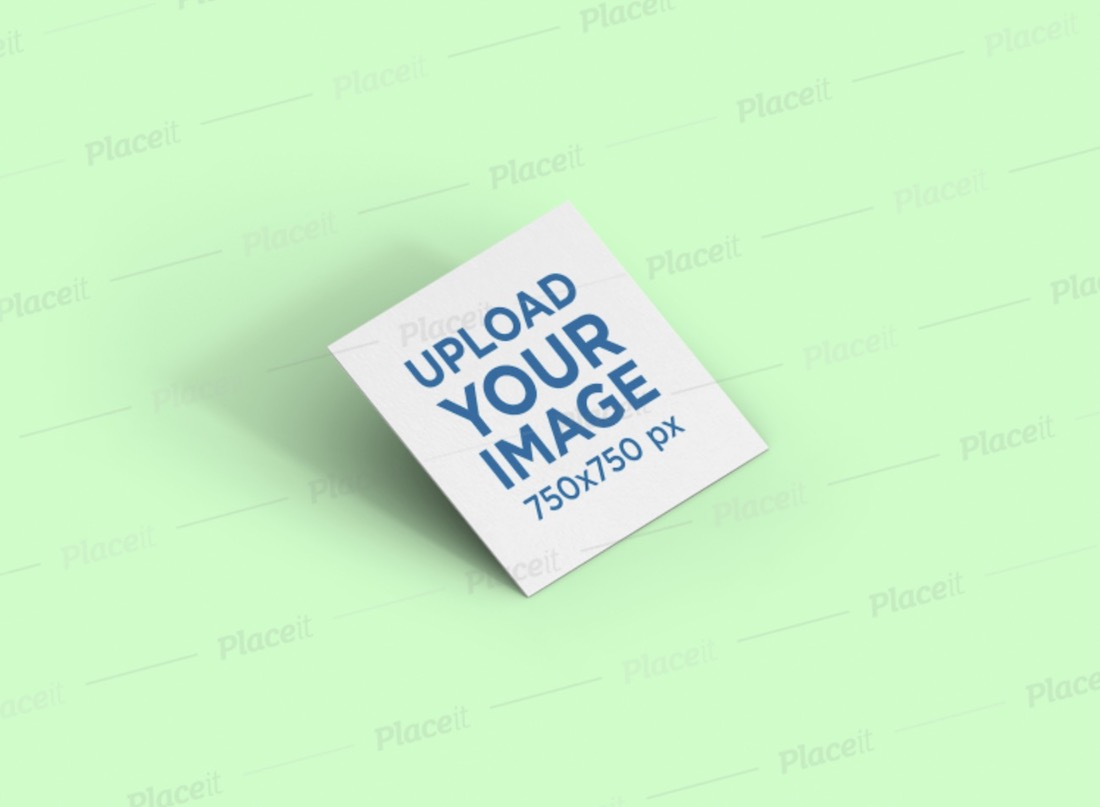 mockup of a square business card render