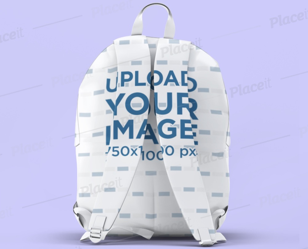 mockup of a sublimated backpack seen from the straps