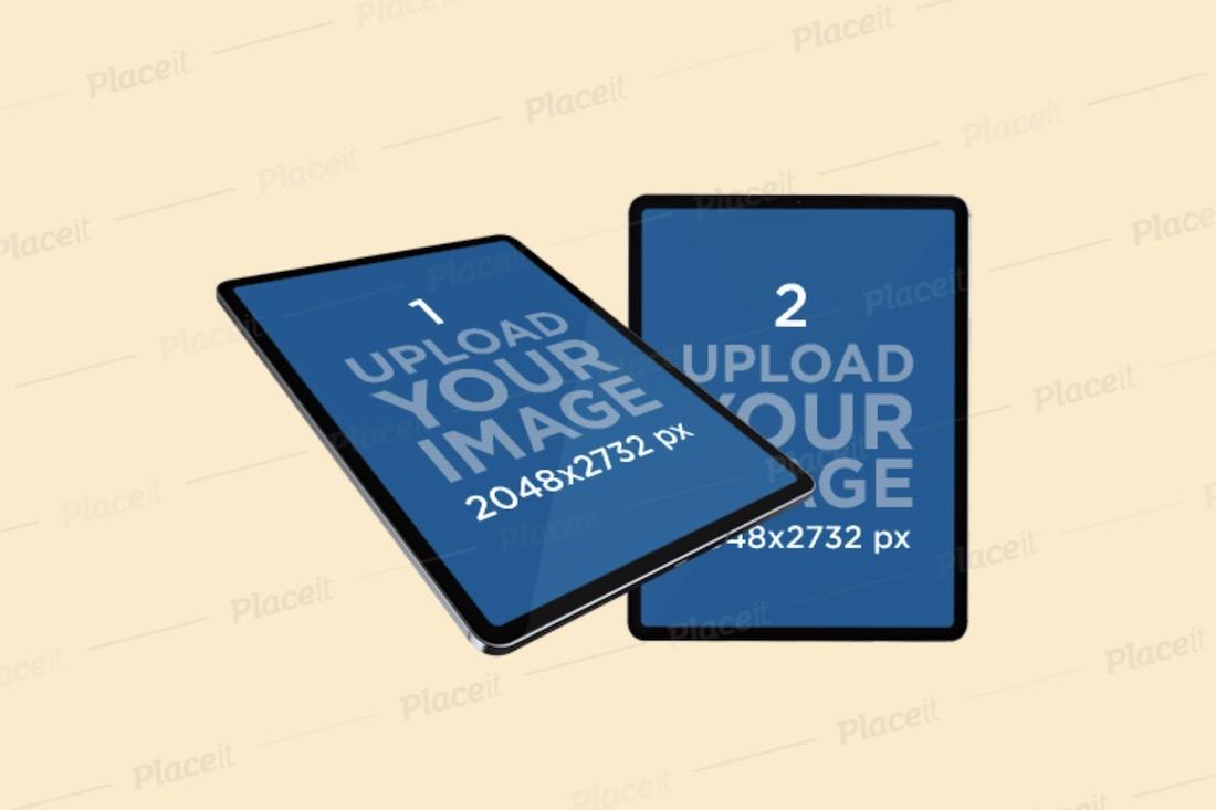 mockup of two ipad pros