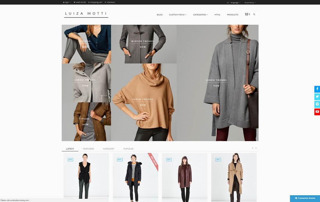 moda opencart theme