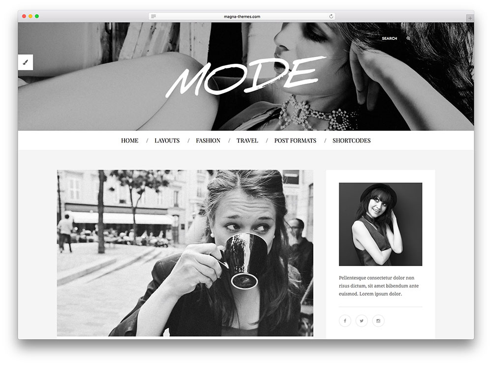 mode - black & white corporate theme
