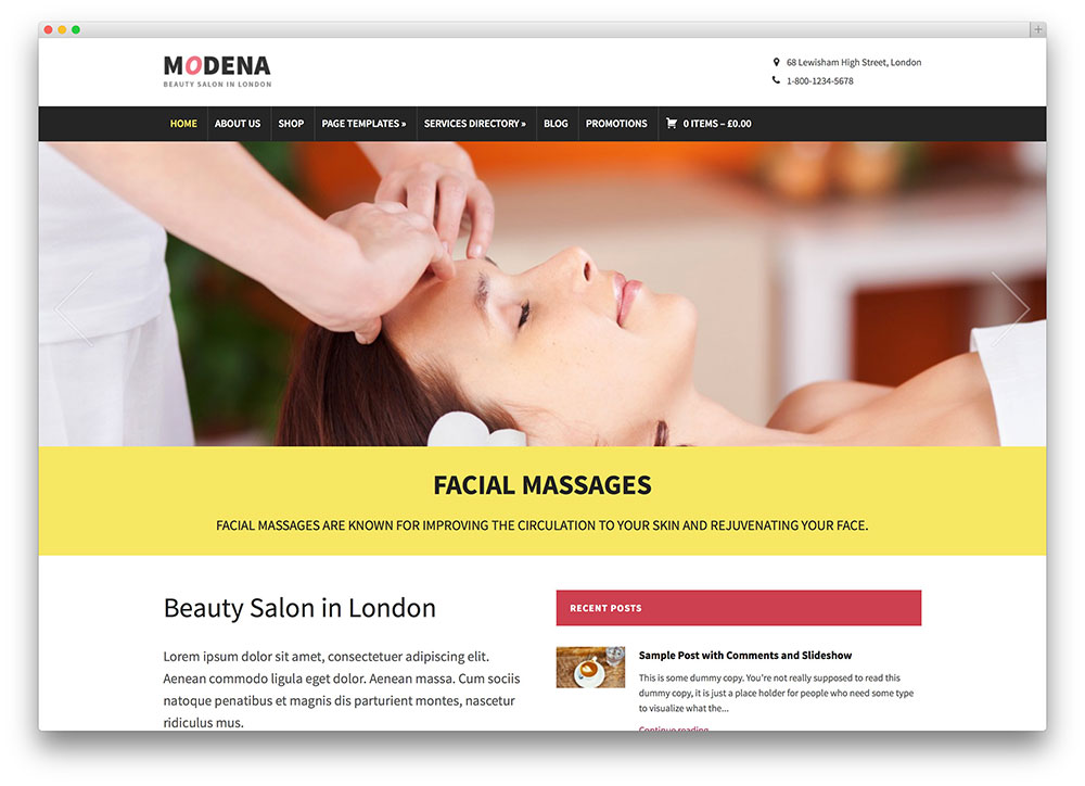modena - classic beauty salon theme