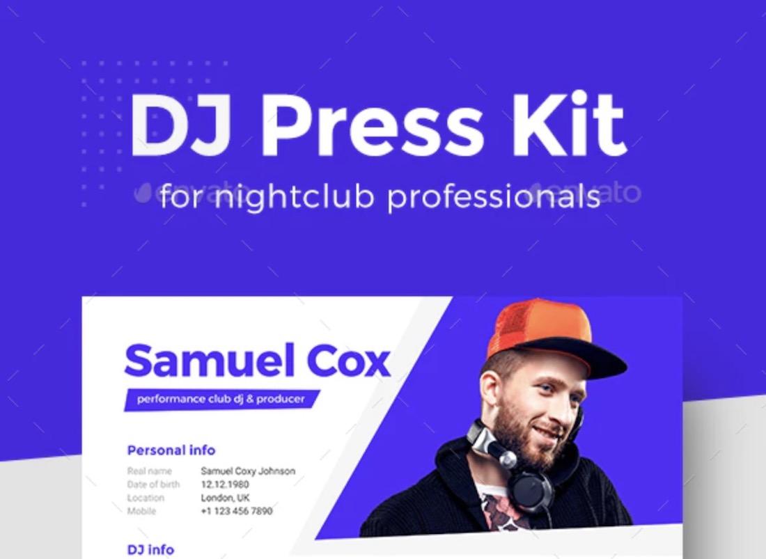 modern dj producer press kit