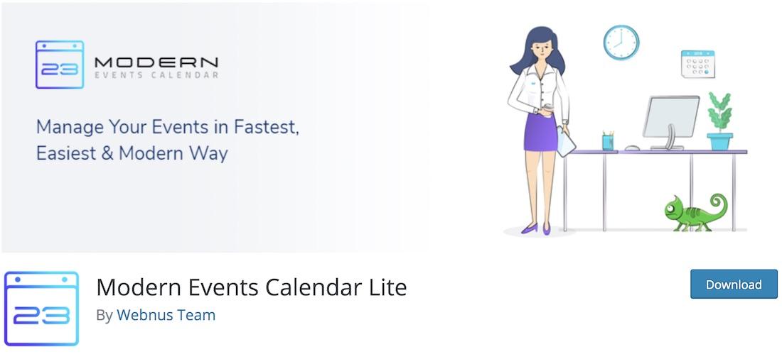 modern events calendar lite plugin