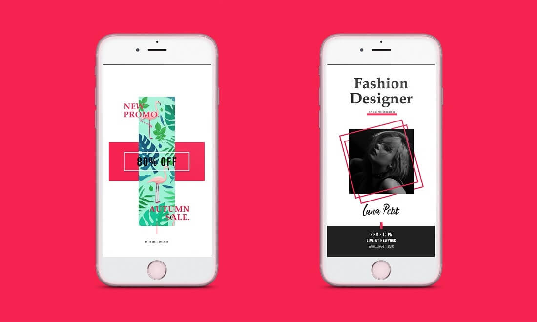 modern fashion instagram stories template