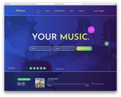 Free Music Website Templates