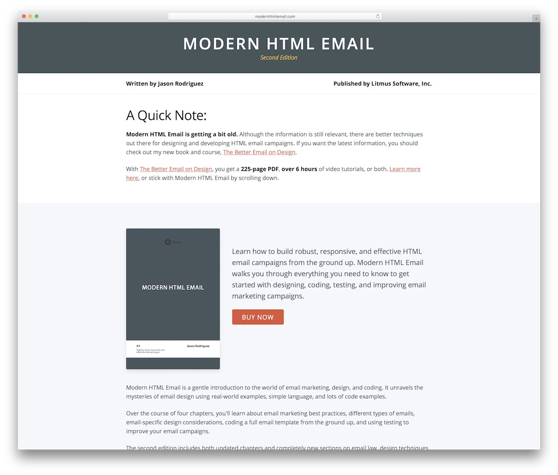 25 best free responsive html email templates 2018 for Sample email blast template