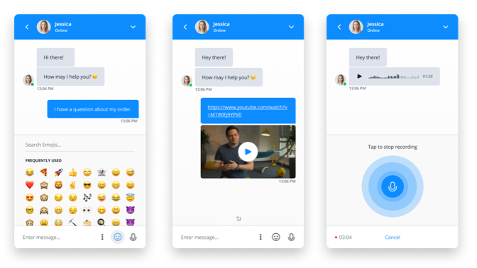 Userlike chat examples