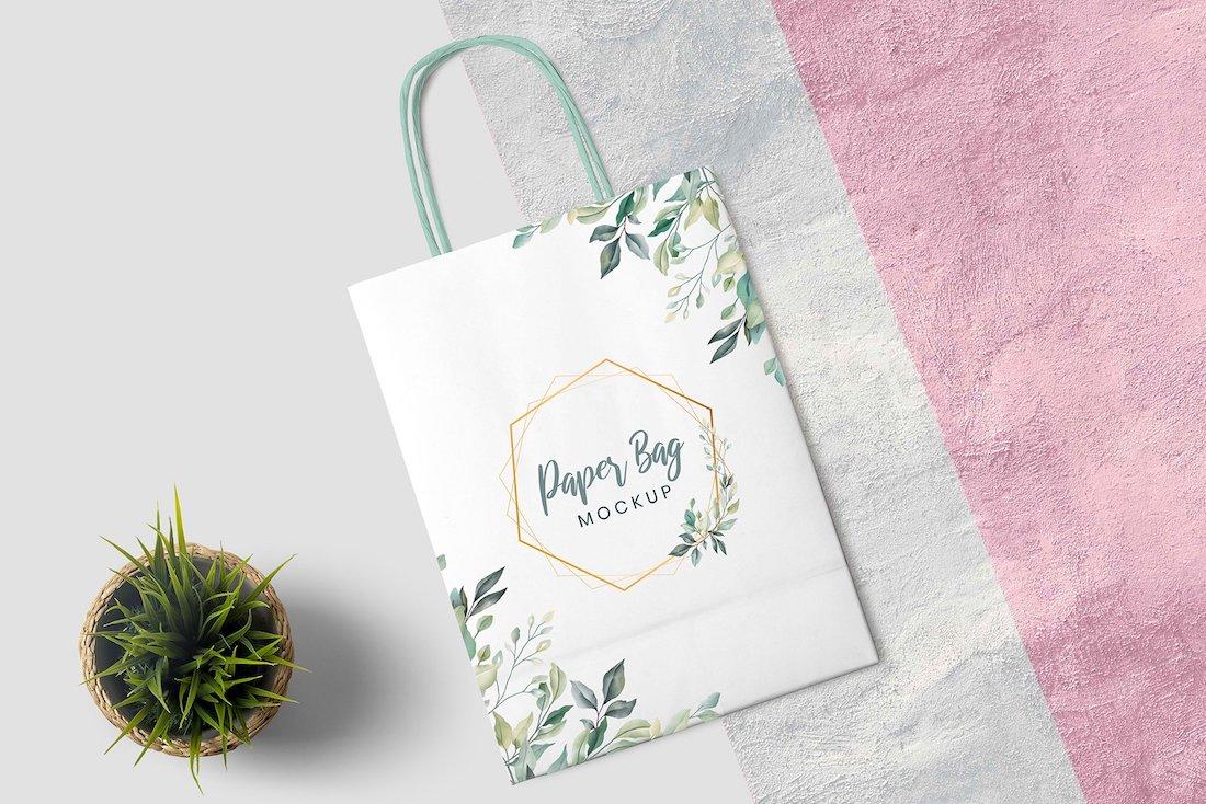 modern paper bag mockups
