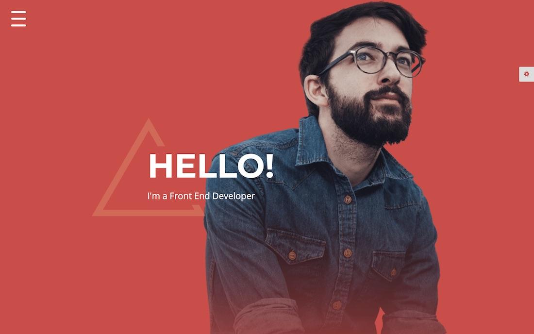 modern resume website template