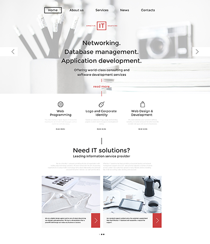 Information Technology WordPress Template