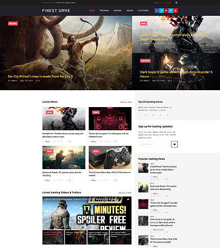 Online Games WordPress Theme