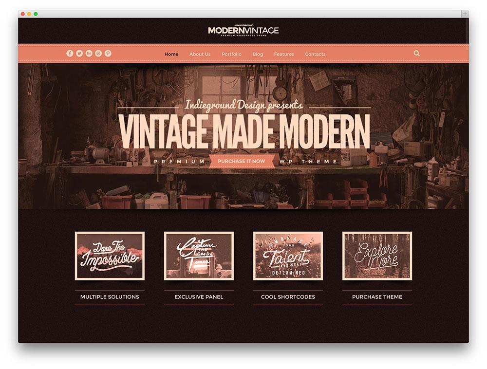 modern vintage multipurpose theme